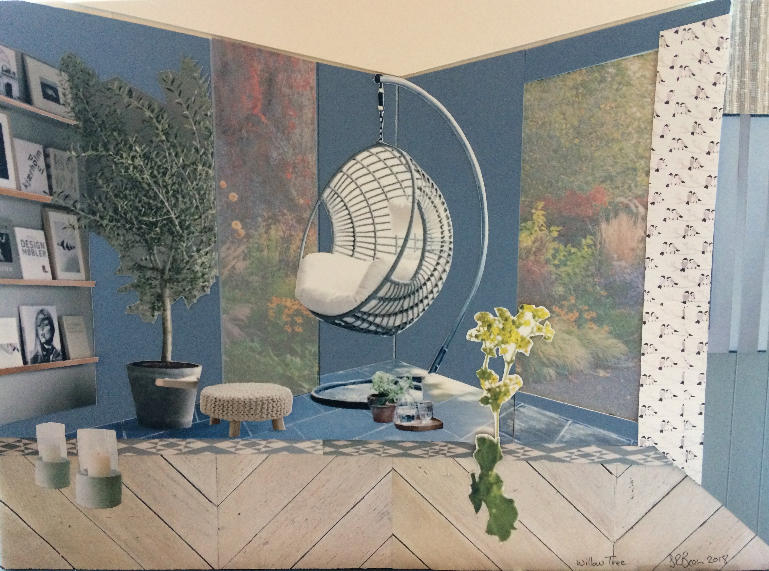 Concept Board for Willow Tree Living Room